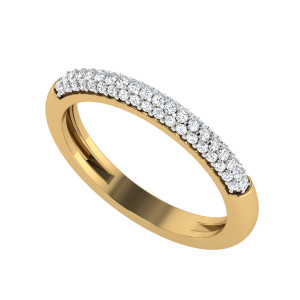 A Waning Crescent Diamond Ring