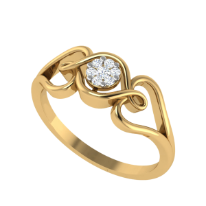 Capture The Life Floral Diamond Ring