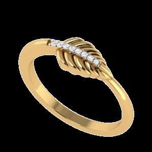 Shaped Fashioned Leaf Diamond Ring