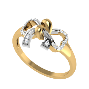 The Genuine Affection Love Knot Diamond Ring