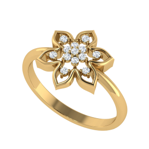Spring In Everything Floral Diamond Ring