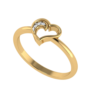 A Pretty Heart Diamond Ring