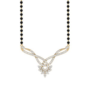 The Perenne Mangalsutra With Black Beads Gold Chain