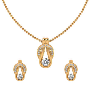 The Overlap Diamond Pendant Set