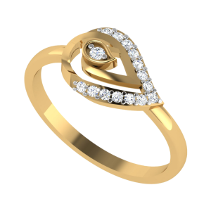 The Paisley Play-Field Diamond Ring