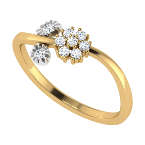 Twigs Of Faith Floral Diamond Ring