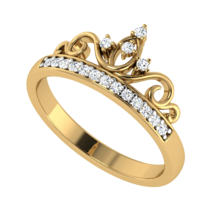 Crown Yourself Designer Diamond Ring