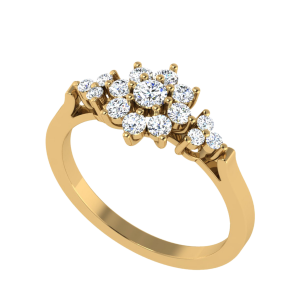 The Bliss Point Floral Diamond Ring