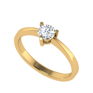 The Ultimate Simplicity Solitaire Diamond Ring