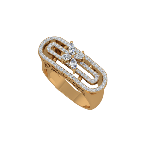 Heavenly Scroll Gold Diamond Ring