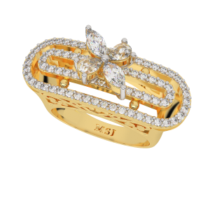 Heavenly Scroll Gold Diamond Ring