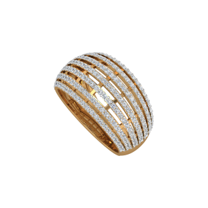 The Linear Rays Gold Diamond Ring