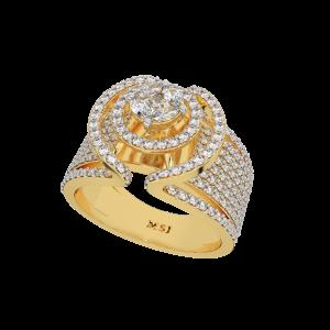 The Fold Unfold Gold Diamond Ring