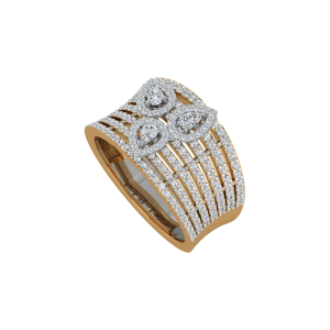 The Sheer Pears Gold Diamond Ring