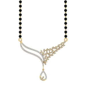 The Elysian Mangalsutra With Black Beads Gold Chain