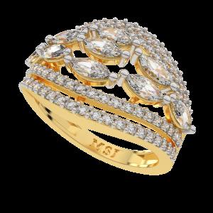 Mega Marquise Gold Diamond Ring