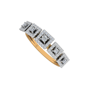 The Squares Encase Gold Diamond Ring