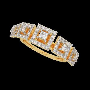 The Squares Encase Gold Diamond Ring