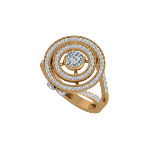 The Mega Swirl Gold Diamond Ring