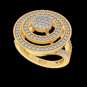 The Mega Swirl Gold Diamond Ring