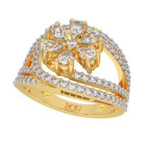 The Fizzy Floral Gold Diamond Ring