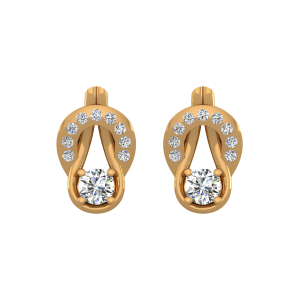 Mod Blend Diamond Stud Earrings