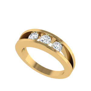 The Three Wishes Solitaire Diamond Ring