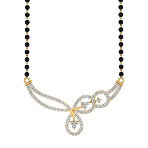 The Whimsical Mangalsutra With Black Beads Gold Chain