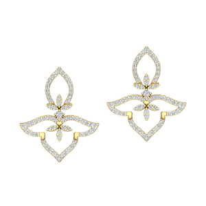 The Floating Leaf Diamond Stud Earrings