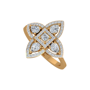 The Fashion Square Gold Diamond Ring
