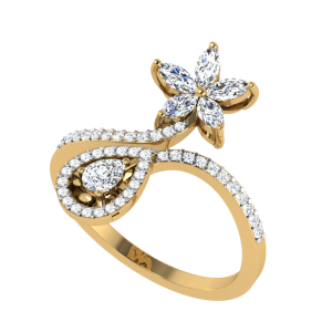 The Floral Set Cocktail Diamond Ring