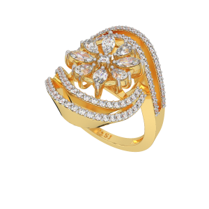 The Floral Blush Gold Diamond Ring