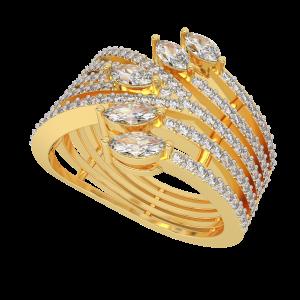 The Wilderness Gold Diamond Ring