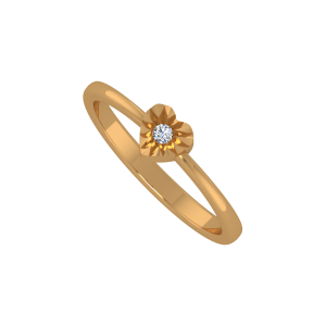 The Heart Aura Gold Diamond Ring