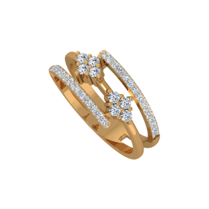 The Enlocked Beauty Gold Diamond Ring