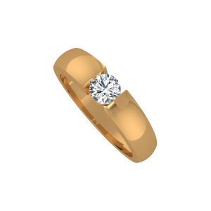 The Magic Solitaire Gold Diamond Ring