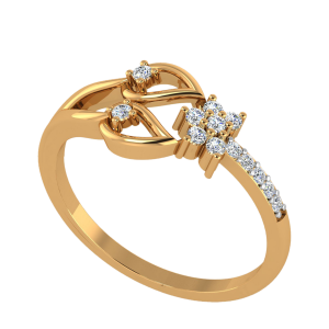 The Golden Flower Diamond Ring
