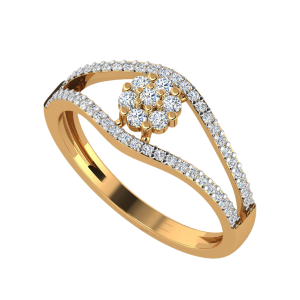 The Floral Sillage Diamond Ring
