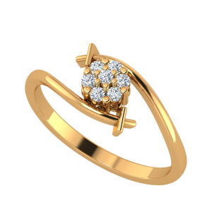 The Elysian Flower Diamond Ring