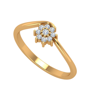 The Floral Incense Diamond Ring