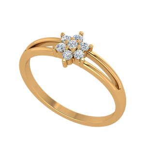 The Floral Slide Diamond Ring
