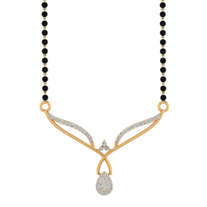 The Ebullience Mangalsutra With Black Beads Gold Chain