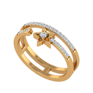 The Star Tail Diamond Ring
