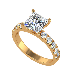 The Cushion Case Solitaire Diamond Ring
