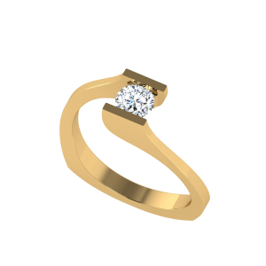 Twisted Tunes Solitaire Ring
