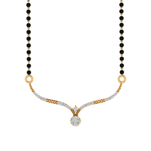 The Maahru Mangalsutra With Black Beads Gold Chain