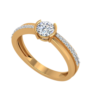 The Solitaire Wing Diamond Ring