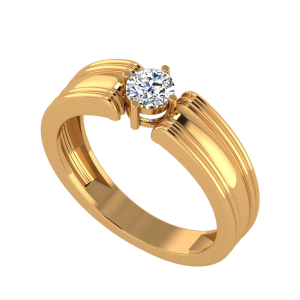 The Broad Base Solitaire Diamond Ring