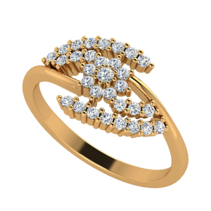 The Floral Bed Diamond Ring
