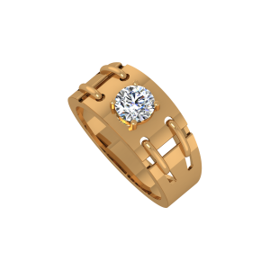 Mr. Handsome Gold Diamond Mens Ring
